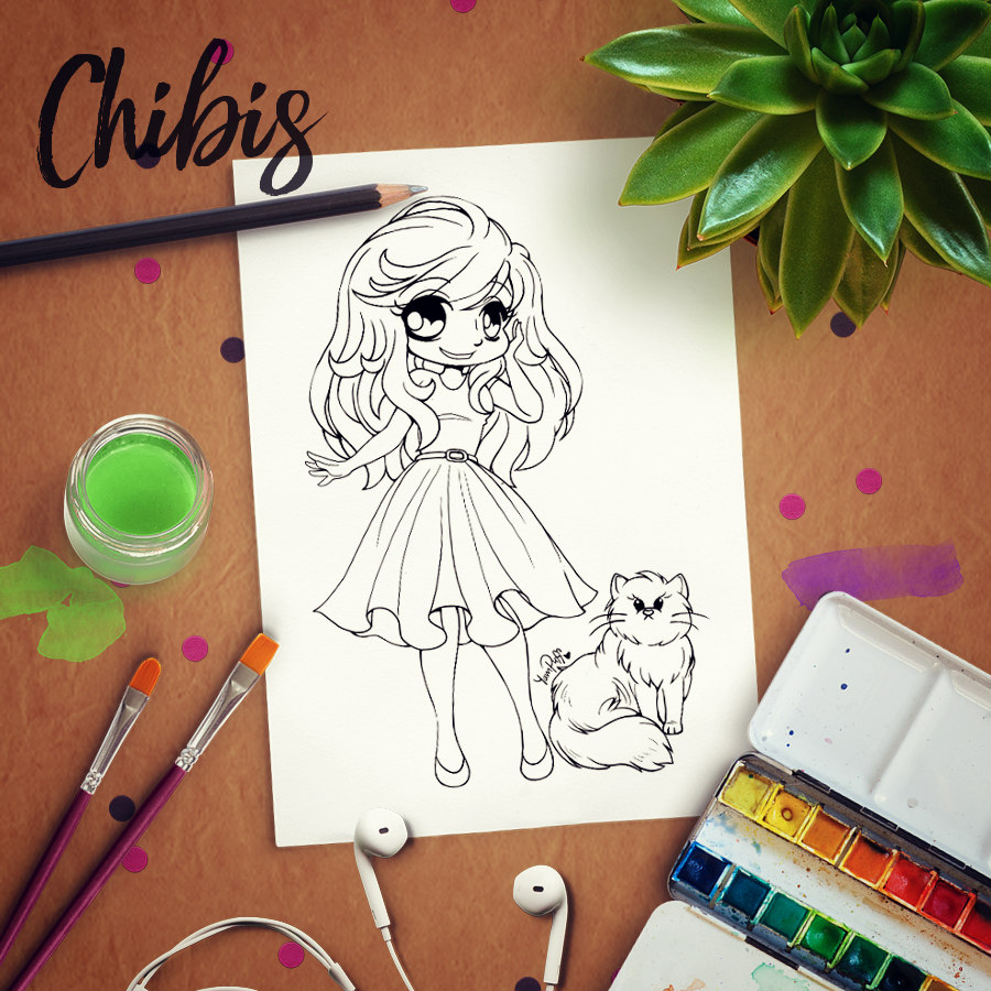 Linearts - Free Coloring Pages by YamPuff