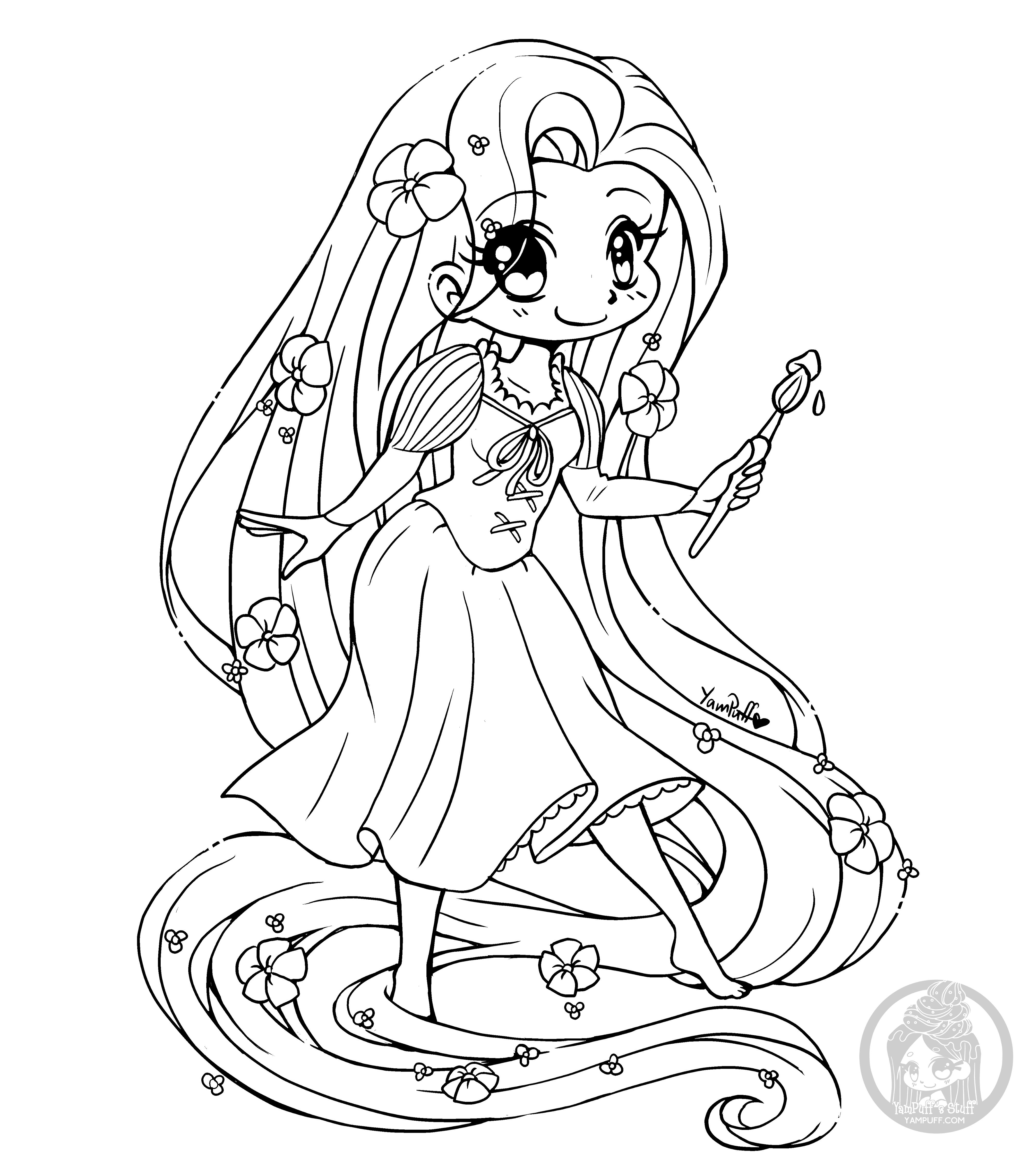 Rapunzel Lineart Update! • YamPuff's Stuff