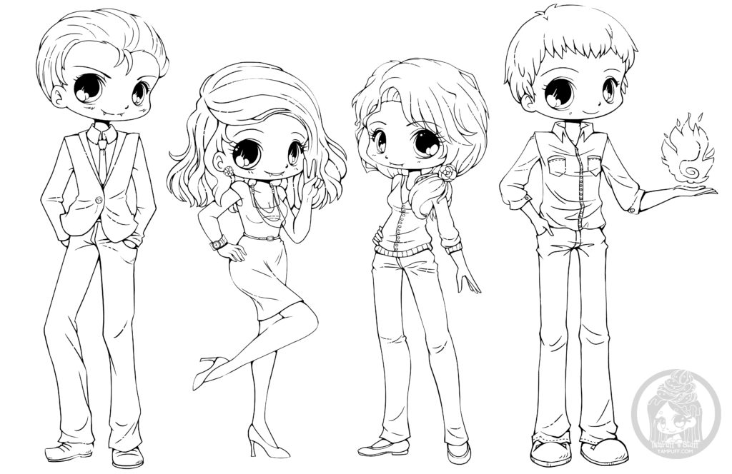 4600 Cute Chibi Coloring Pages Download Free Images