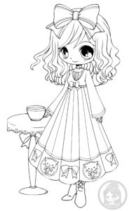 Annabelle Chibi Lineart by YamPuff