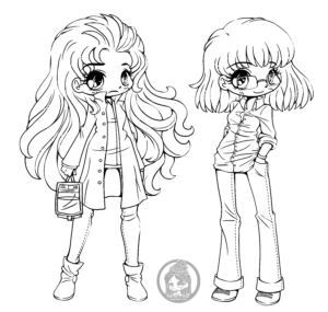 Being Human Genderbend chibi lineart by YamPuff