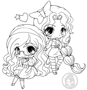 Bell and Star Chibi Lineart by YamPuff