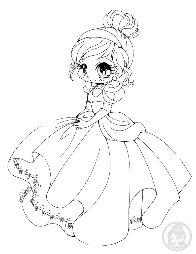 Fanart Free Chibi Colouring Pages YamPuff 39 s Stuff