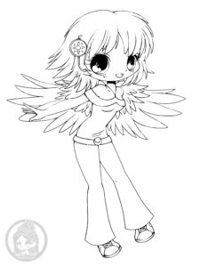 Delilah Chibi Lineart by YamPuff