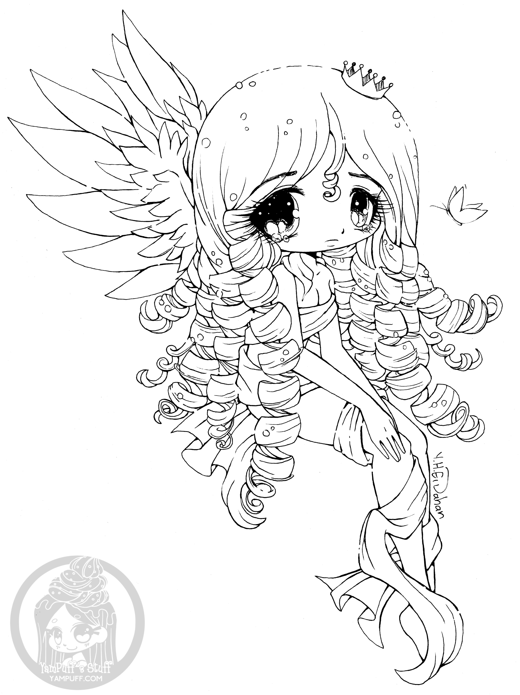 chibi coloring pages   Chibis - Free Chibi Coloring Pages • YamPuff's Stuff