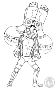 Frankie one piece lineart by yampuff