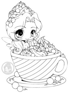Hot Cocoa Emiko chibi lineart by YamPuff