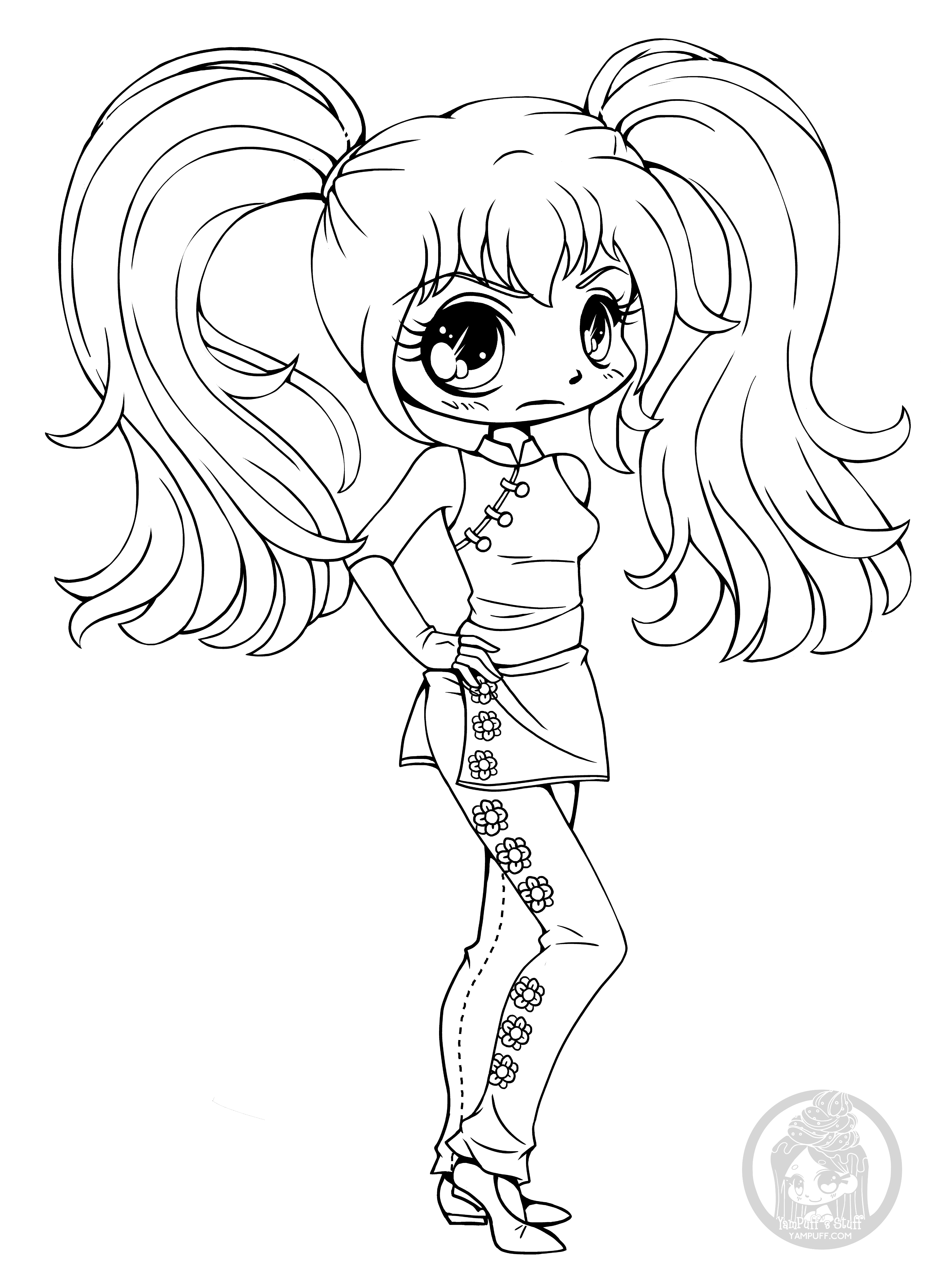 Chibis - Free Chibi Coloring Pages • YamPuff's Stuff