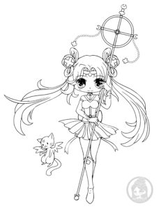 Sailor Irumei chibi lineart by YamPuff