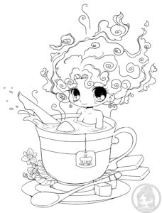15 cute chibi coloring pages printable - Print Color Craft   300x228