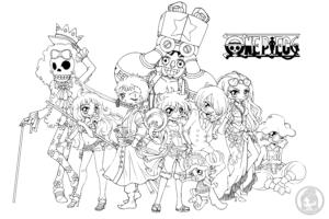 The straw hat crew lineart by yampuff