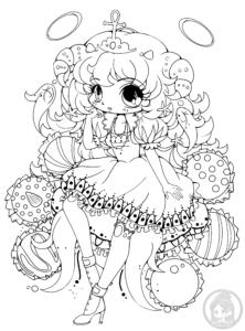 Truffle Girl Hazukia Chibi Lineart By YamPuff