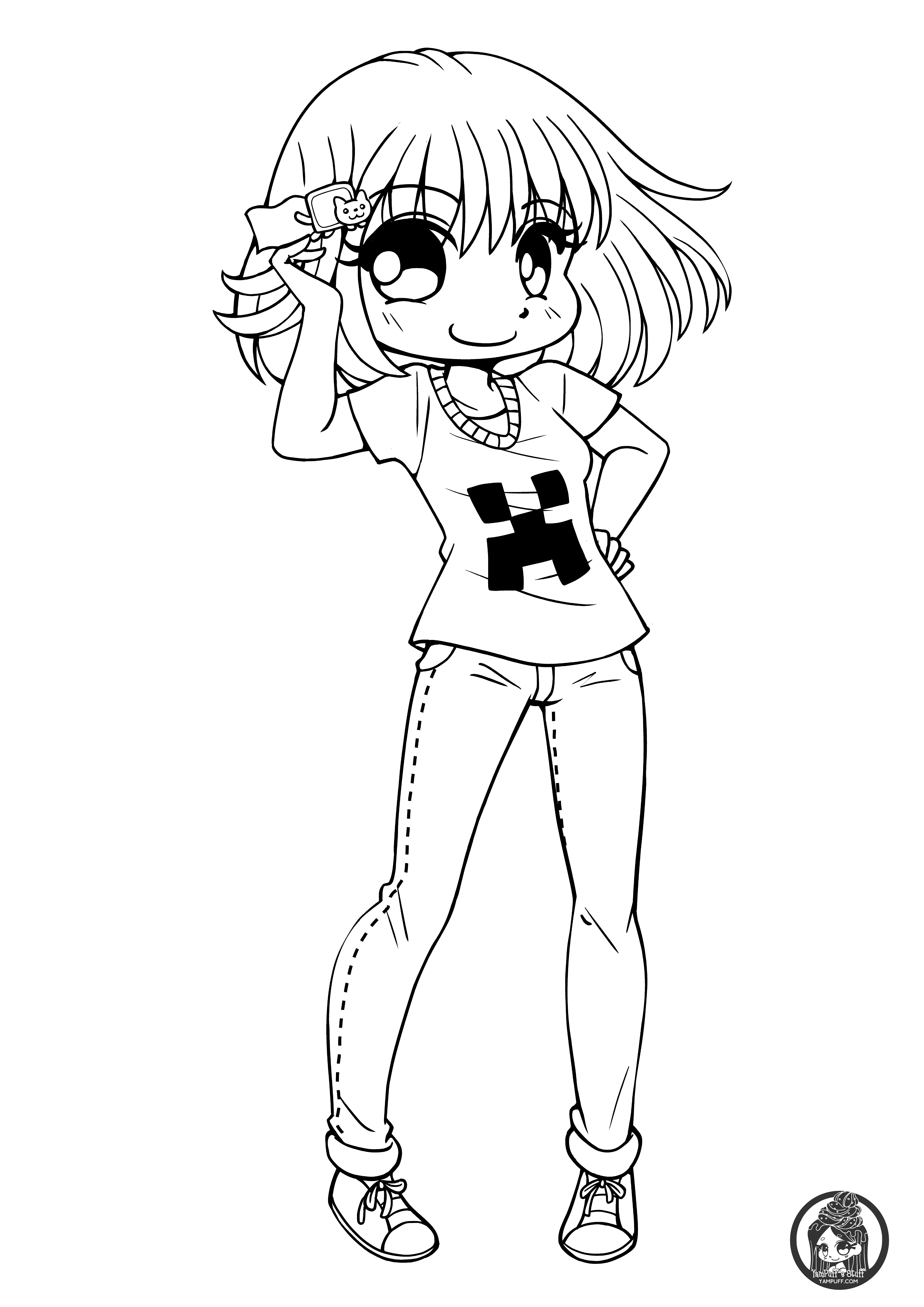 Chibis free chibi coloring pages yampuff 39 s stuff for Cute anime coloring pages to print