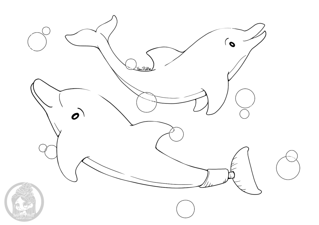 Winter And Hope The Dolphin Coloring Pages Coloring Pages
