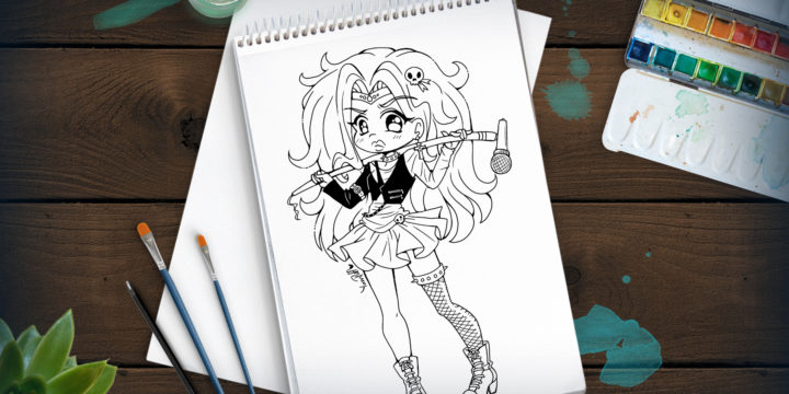 Sailor Glam Metal – New YamPuff Lineart Up!