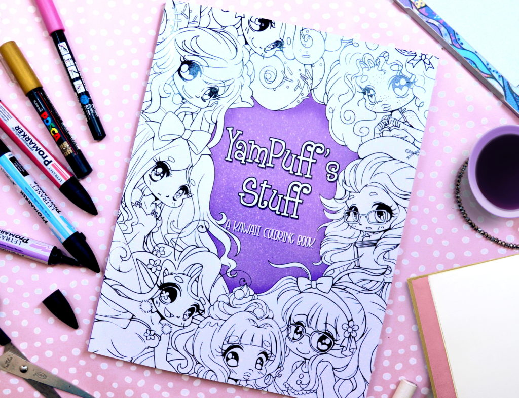 YamPuff's Stuff: A Kawaii Coloring Book of Chibis and Cute Girls