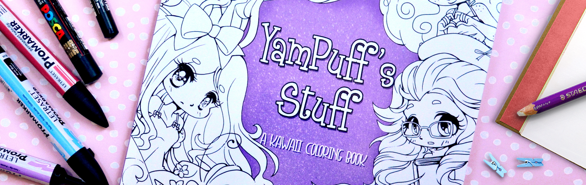 Yampuff Coloring Book And Digital Stamp Artist Yampuff S Stuff