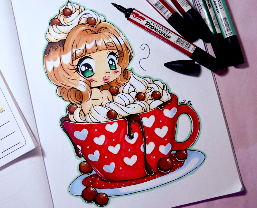 Hot Cocoa Chibi Speed Coloring Video