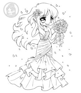 Cat Girl coloring page | Free Printable Coloring Pages | 300x261