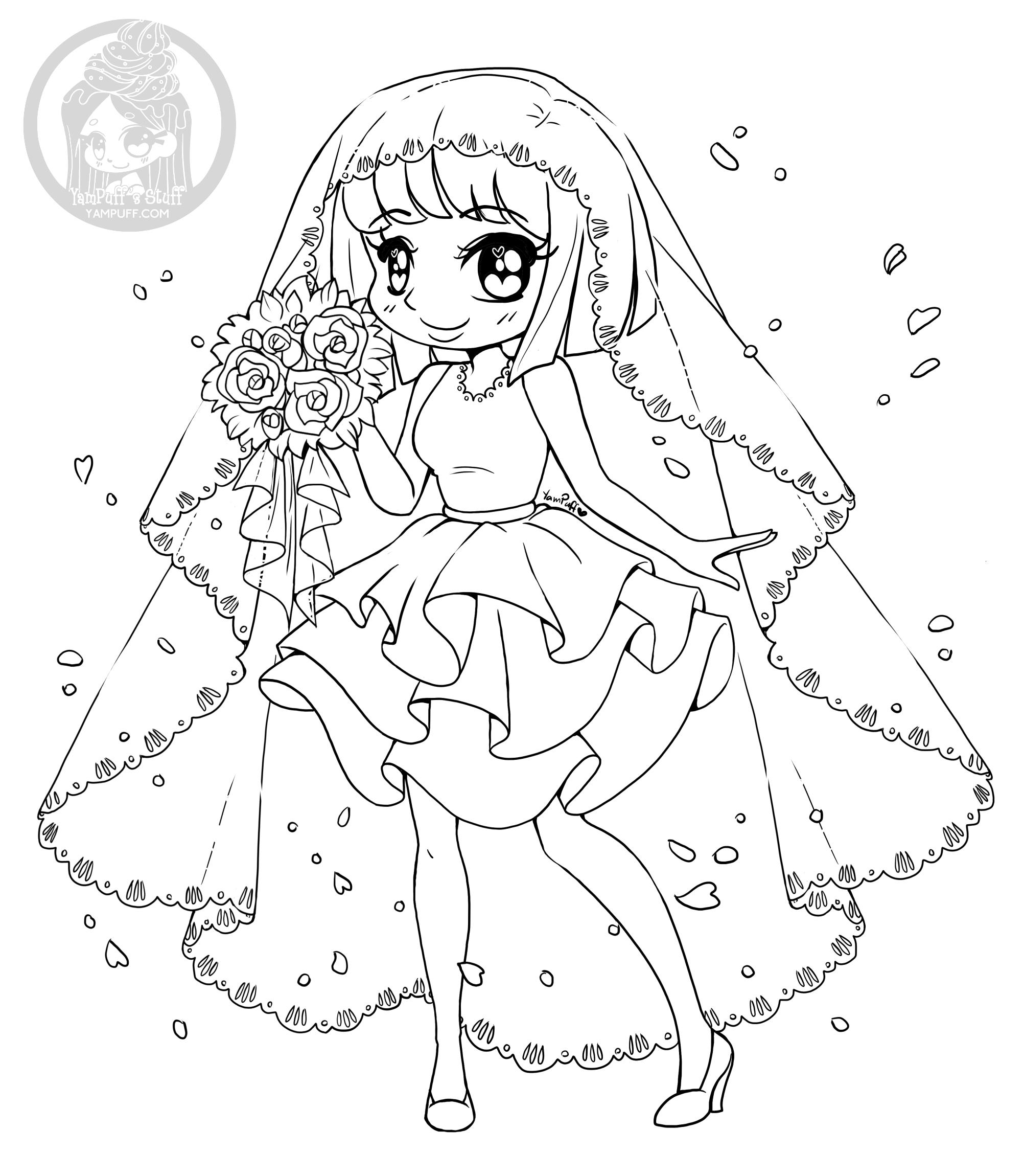 Bride Coloring Page By Yampuff Yampuff S Stuff