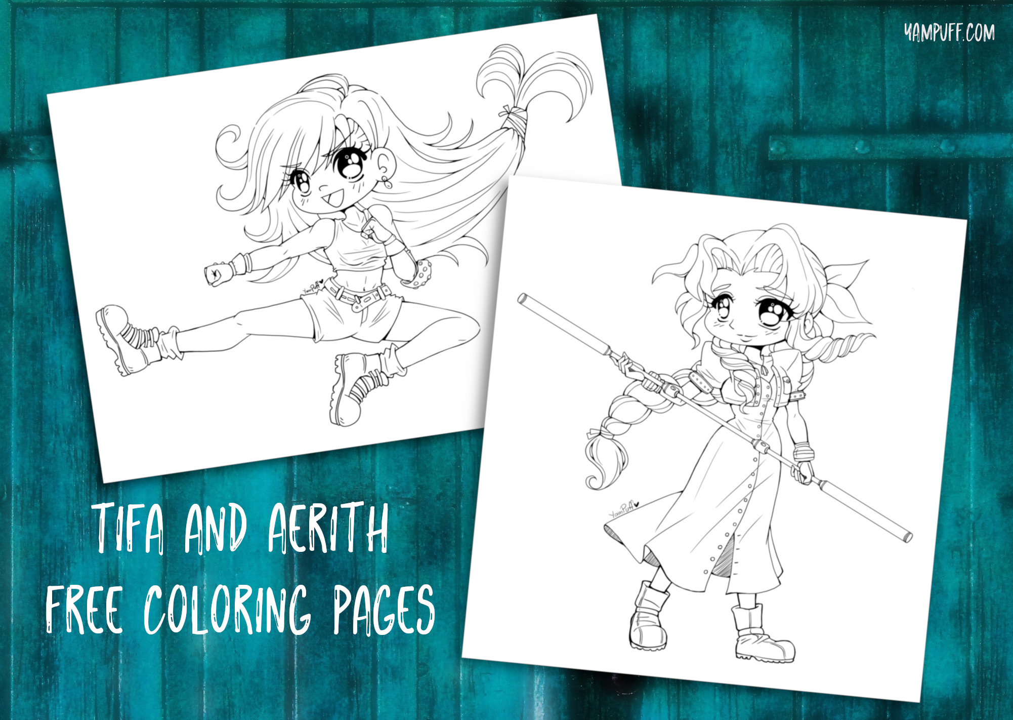Printable Final Fantasy 7 Coloring Pages